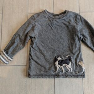 Janie and Jack 3T reversible thick shirt